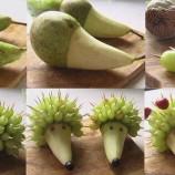 Ovocní ježkovia. Hravá a chutná pochúťka pre vaše ratolesti