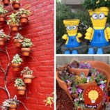 21 krásnych nápadov, ako využiť staré kvetináče vo vašej záhrade!