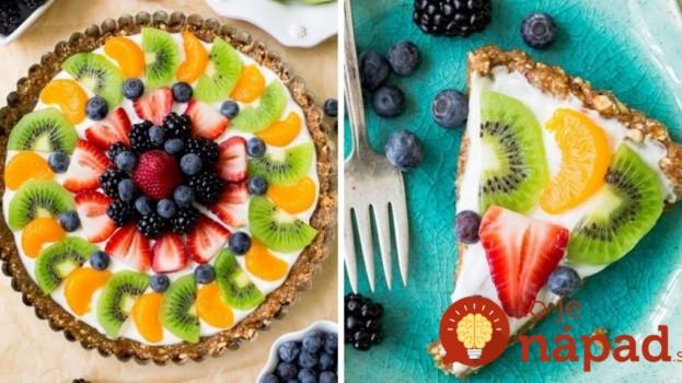 Zdravá jogurtová torta s ovocím