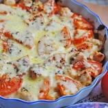 Zapečené kuracie prsia so syrom a paradajkami