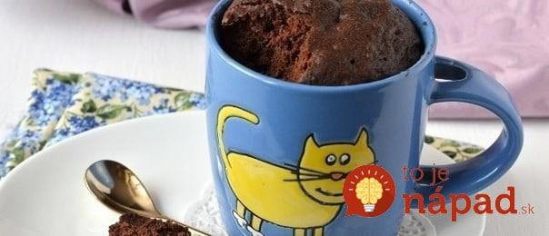 Fotopostup: Rýchly koláč z hrnčeka hotový za 5 minút!
