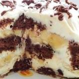 Nepečená perníkovo – banánová torta