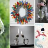 21 geniálnych nápadov, ako využiť staré žiarovky