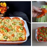 Rozkvitnutá zapekaná zelenina