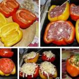 Pečená paprika plnená mletým mäsom