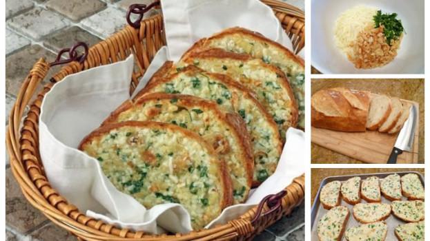 Zapekaný chlieb spečeným cesnakom