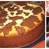 Fľakatý tvarohový koláčik