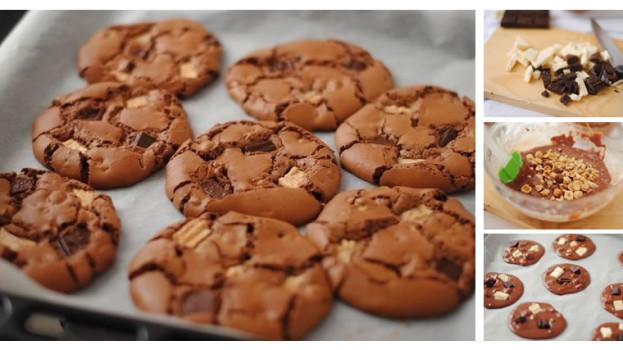 Domáce sušienky plné čokolády