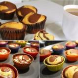 """Dvojfarebné muffiny """"Noc a deň"""""""