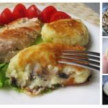 Zemiakovo – hubové fašírky zo zvyšnej zemiakovej kaše