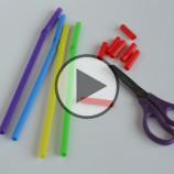 Video: Obyčajnú slamku prestrihla na kúsky a vytvorila nečakanú vec. Inšpiruje aj vás!