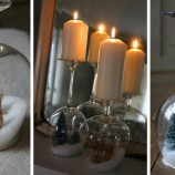 Krásne zimné dekorácie z pohárov