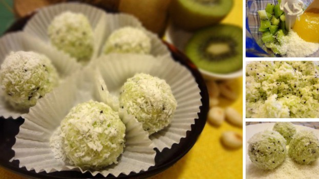 Kivi guľky v kokose