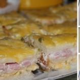 Vynikajúca večera z toastového chleba: Slaný koláč so šunkou a syrom