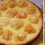 Jednoduchý koláč s pečenými jablkami