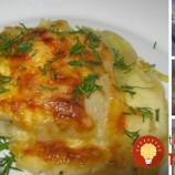 Rybie filé pečené so zemiakmi a smotanou
