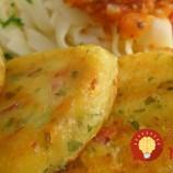 Fantastické zemiakové fašírky so slaninkou acibuľou