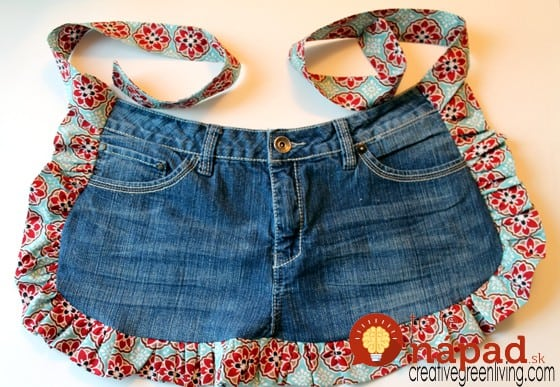 farm girl apron from old jeans step 11
