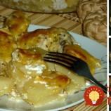 Kuracie stiehienka zapečené so zemiakmi a kyslou smotanou