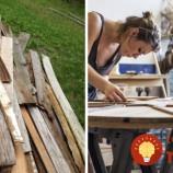 Táto žena už roky zbiera drevený odpad. Vytvára z neho nádherné kusy nábytku!