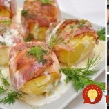 Pečené zemiaky v slanike so smotanovou omáčkou