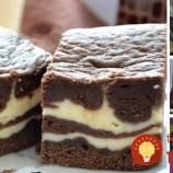 Fantastický dvojfarebný koláč