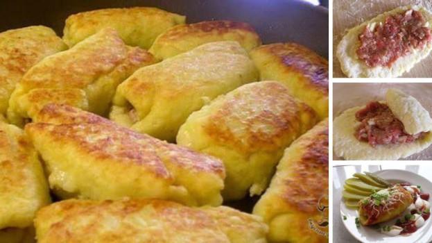 Pečené zemiakové rolky s mletým mäsom