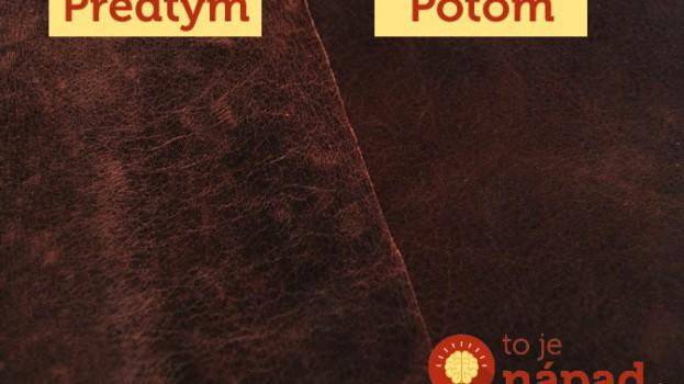 Najlepší domáci čistič kože, ktorý nestojí takmer nič!