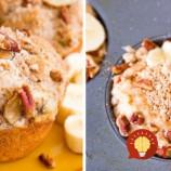Zdravé bánovo-orechové muffiny