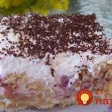 Bleskový jogurtový koláč z maslových sušienok