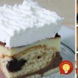 Nepečený koláč z pudingu a croissantov