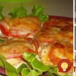 Pečené kuracie rezne so syrom a paradajkami