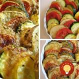 Pečená zelenina s parmezánom a olivovým olejom
