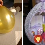 Krásna veľkonočná dekorácia z vlny a balónu. Vyrobte si ju aj vy!
