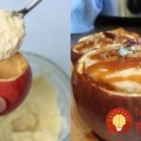 Pečené jabĺčka plnené tvarohovým krémom
