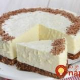 Nepečená torta z bielej čokolády