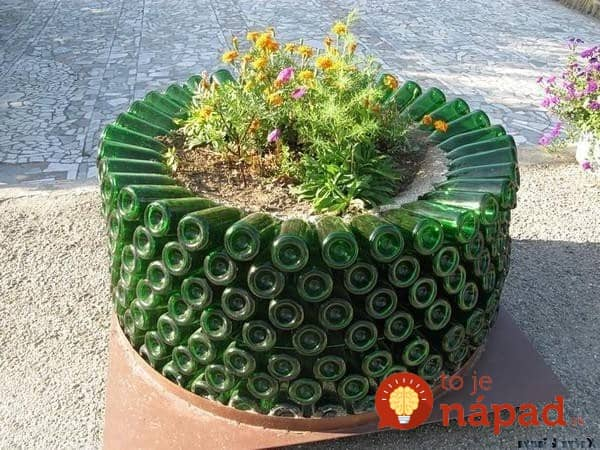 Make-garden-design-flower-pot-glass-bottles-themselves