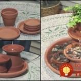Máte doma zvyšné kvetináče? Vyrobte si z nich utešenú fontánku do záhrady!
