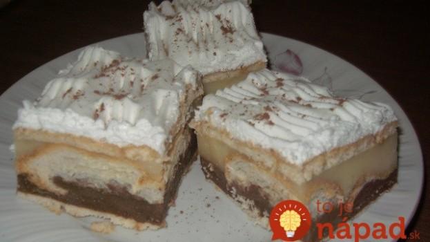 Fantastický dezert z pudingu a croissantov