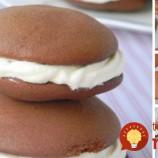 Kréhké čokoládové sušienky so smotanovým krémom