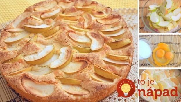 Úžasne jednoduchý jablkový koláč