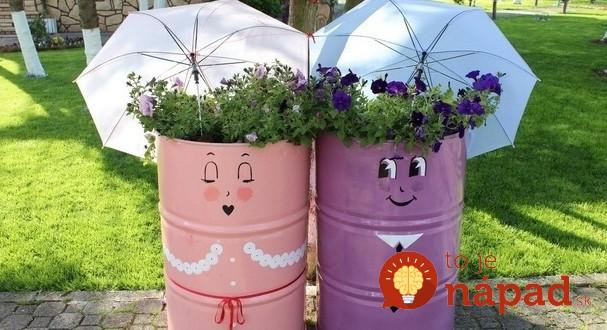 repurpose-old-oil-drums-garden-umbrella-flower-planter-607x330