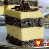 Makové rezy s vanilkovým krémom