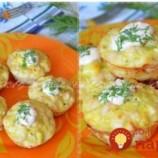 Kuracie muffiny s kyslou smotanou a syrom