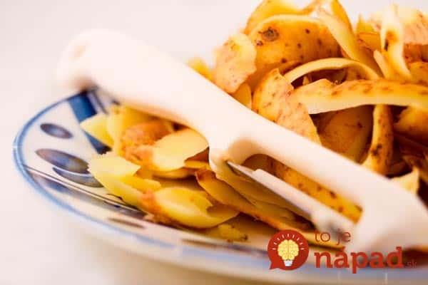 Potato peeling.