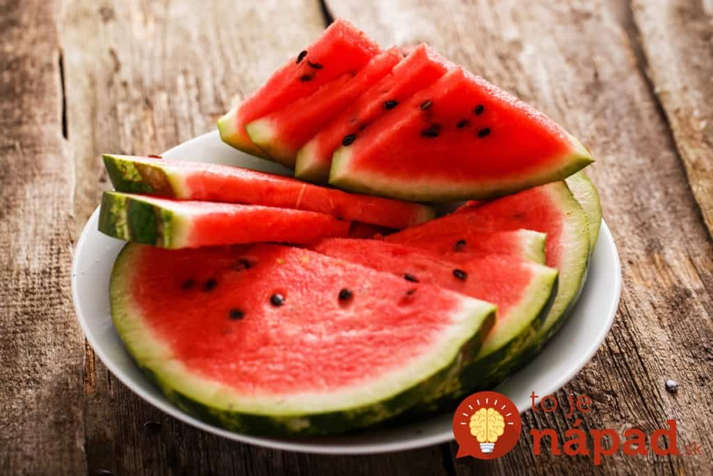 Food, fresh. Watermelon on the table