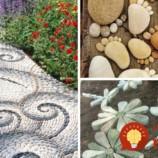 33 nápadov, ako skrášliť záhradu pomocou obyčajných kameňov