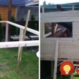 Rodičia postavili pre dcérku krásny domček na hranie. Zvládli to za 3 dni!
