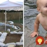Pre rodinu pripravil veľkolepý projekt. Na záhrade vybudoval úžasný vodný svet!