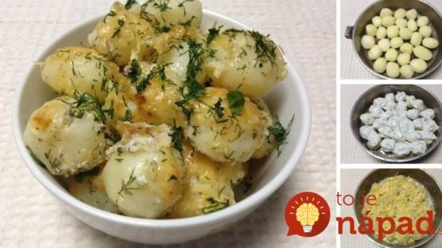 Nové zemiaky pečené s cesnakovo-smotanovou omáčkou!